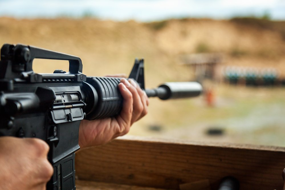 AR-15 at shooting range - illegal weapons charges in Springfield