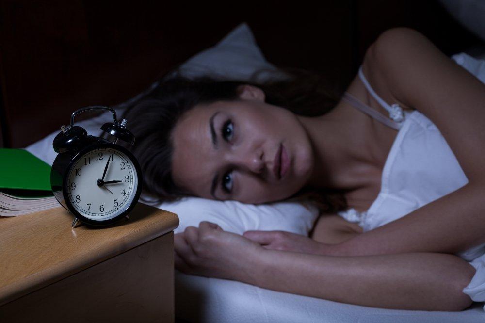 woman who can't sleep