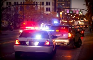 A police officer pulls over a driver - Springfield DWI Charge