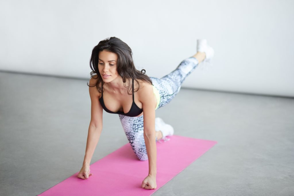 Woman doing yoga stretching