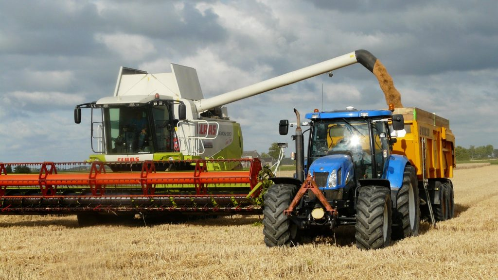 Tractor and Harvester Stockton Agricultural Rental Equipment
