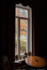 dark and obtrusive window coverings