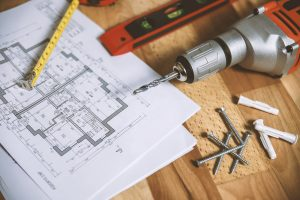 Blueprints with tools and Hardware